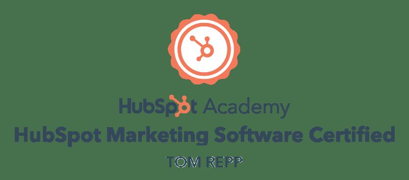 Hubspot-Marketing-Software-Certified-TomRepp